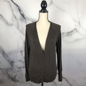 MOSSIMO long sleeve longer button up cardigan.